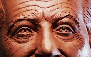 imágen publicitaria para la inauguarción del busto en bronce del Padre Carlos