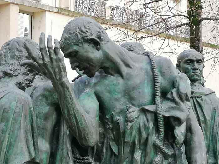 escultura de los burgueses de Calais