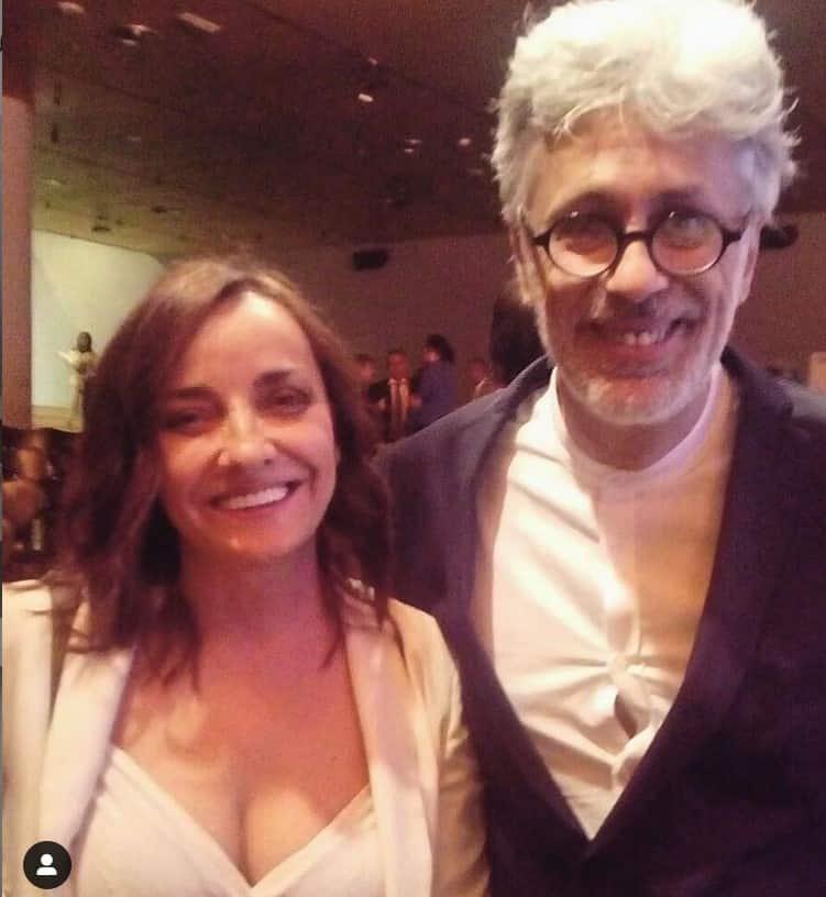 Pepa Bueno y Juan Up en la entrega de premios De periodismo Internacionales